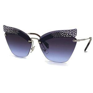 MIU MIU 63mm Cat Eye Blue Violet Sunglasses